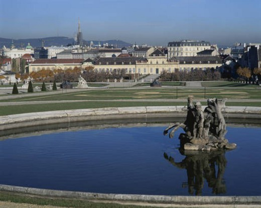 Stock Photo: 4029R-230864 Belvedere Palace gardens, Vienna, Austria