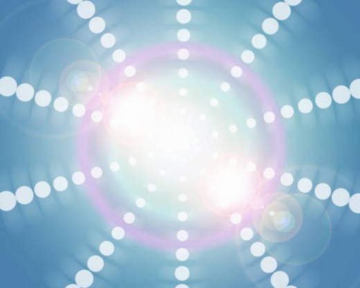 Circles emanating from light : Stock Photo