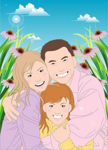 Stock Photo: 4029R-235854 Portrait of a happy family.