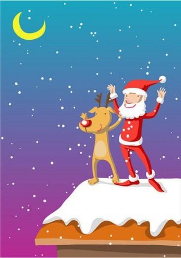 reindeer, santa, deer, costume, Santa Claus, SantaClaus : Stock Photo
