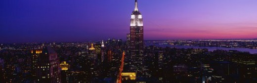 This is the Empire State Building at sunset : Stock Photo