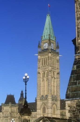 Stock Photo: 4029R-238744 Canadian Parliament Buildings, Ottawa, Ontario, Canada