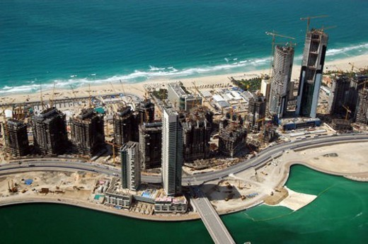 Stock Photo: 4029R-240742 dubai, aerial, dubai, marina, port, plaisance, towers