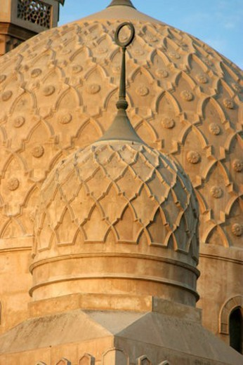 Stock Photo: 4029R-2453 mosque, jumeirah, dome, islamic, islam, prayer, dubai
