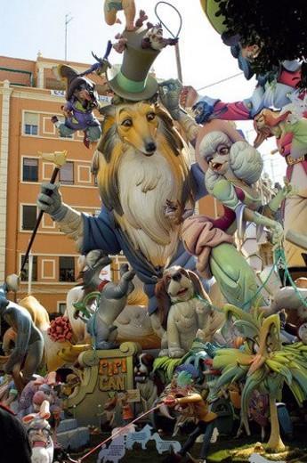 Spain, Comunidad valenciana, Valencia, Ninot, Falla, Fallas, Puppet : Stock Photo