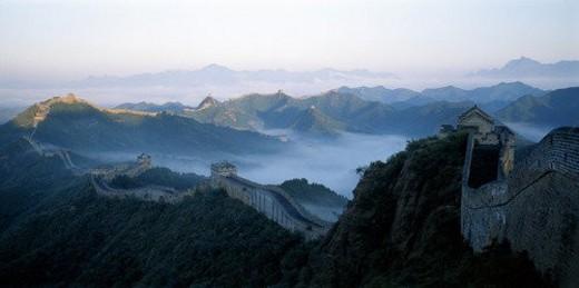 Overlook of Jinshanling Great Wall, Beijing : Stock Photo