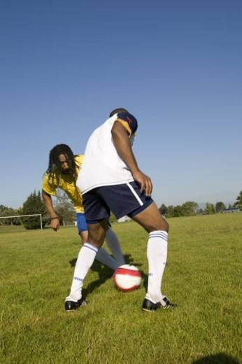 playing soccer : Stock Photo