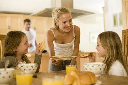 Stock Photo: 4029R-251157 Family at home