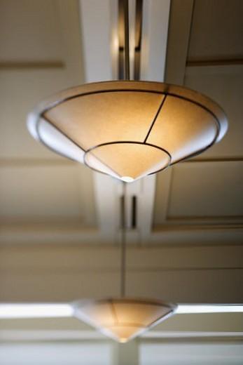 Ceiling lighting. : Stock Photo