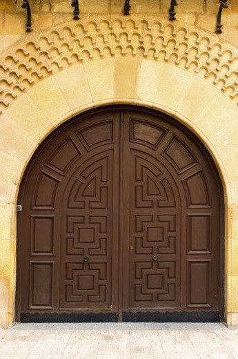 Spain, Spanish, Building, Closed, Entrance, Closed, Wood : Stock Photo