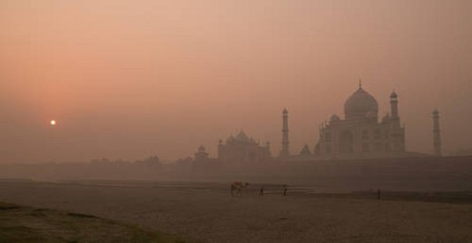Taj Mahal, Agra India : Stock Photo