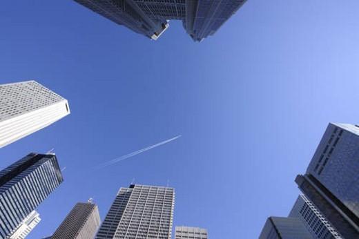 Stock Photo: 4029R-256990 Shinjuku skyscrapers, Shinjuku-ku, Tokyo Japan