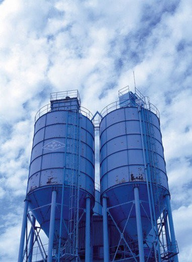Silo, Metallic, Metal, Building, Industrial : Stock Photo