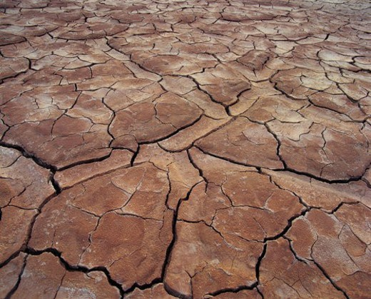 Overlook of adobe soil, Gansu : Stock Photo