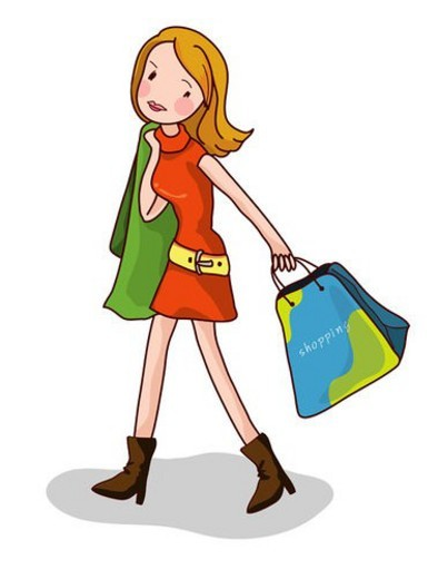 Stock Photo: 4029R-26015 long hair, shoppingbag, young woman, leisure, lifestyle, fashion