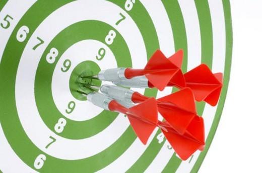 Stock Photo: 4029R-260882 board, aim, background, arrow, archery, bullseye, accurate