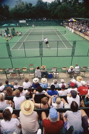 Stock Photo: 4029R-264215 Crowd watching tennis tournament