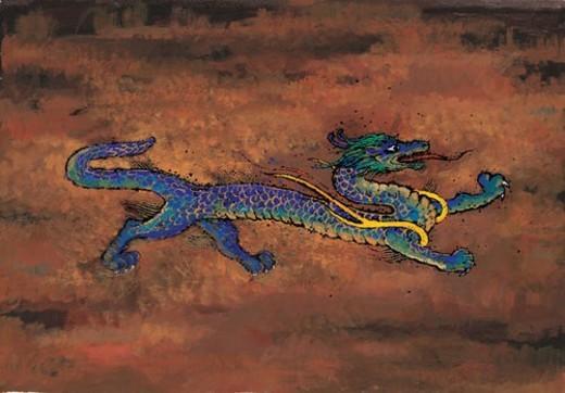 Stock Photo: 4029R-265712 mythology, dragon, mythical, myth, sky, creature, animal