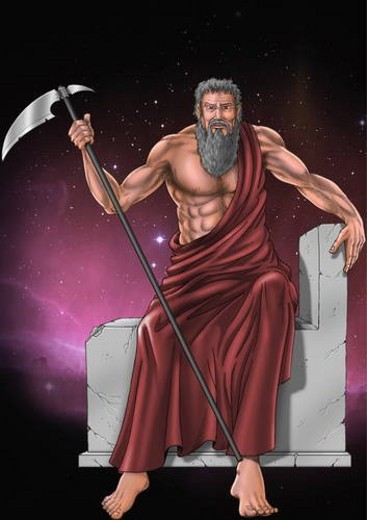 Hades with his scythe : Stock Photo