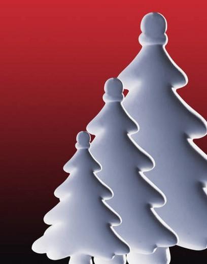 Stylized Christmas trees : Stock Photo