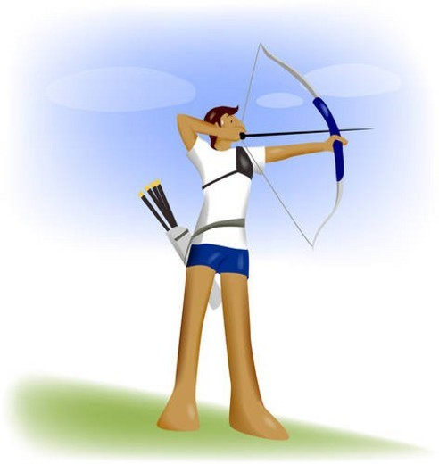 competition, player, athlete, Olympic games, Western-style archery, Olympic : Stock Photo