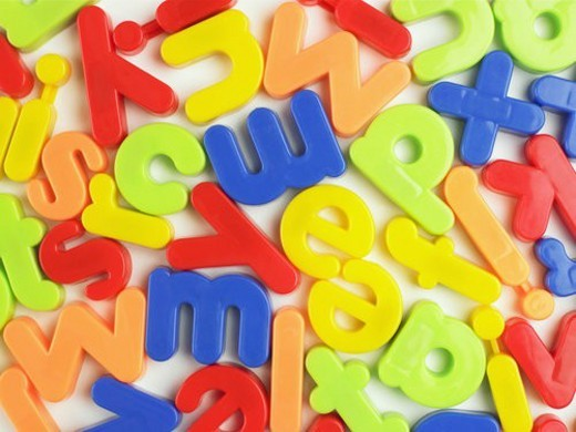 Magnetic letters (close-up) : Stock Photo