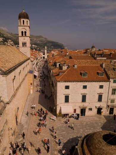 Aerial view of Dubrovnik : Stock Photo