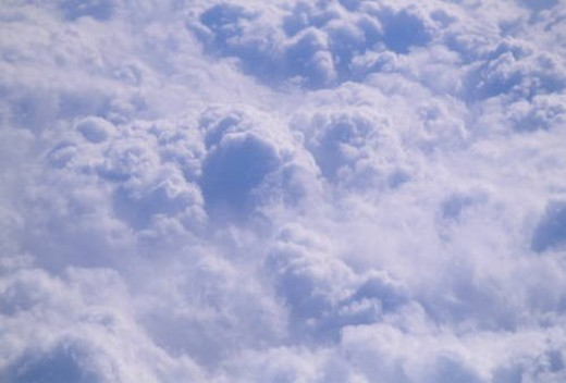 Stock Photo: 4029R-268260 View of cloud sheet from a plane