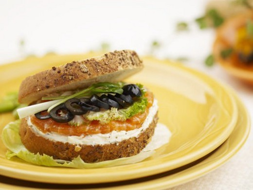 Stock Photo: 4029R-27289 plate, bread, dish, vegetable, asparagus, food styling, sandwich