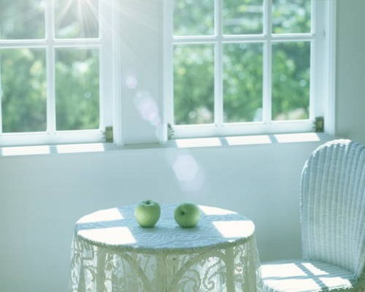 Stock Photo: 4029R-276237 Apples on table, computer graphic