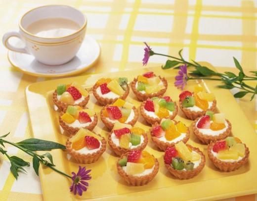 Fruit Tart, High Angle View : Stock Photo