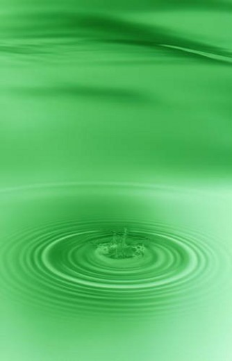 Rippled water with green background : Stock Photo