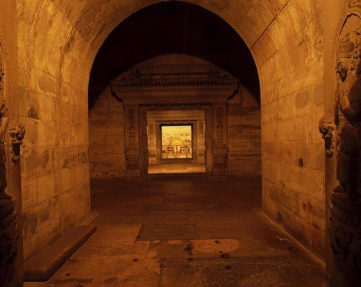 Inner scene of under earth palace of Chong Tomb in Qingxi Tomb,Beijing : Stock Photo