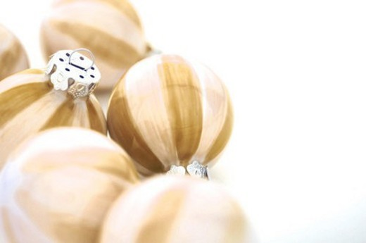 Stock Photo: 4029R-279958 ball, bauble, beige, brown, Christmas, christmas