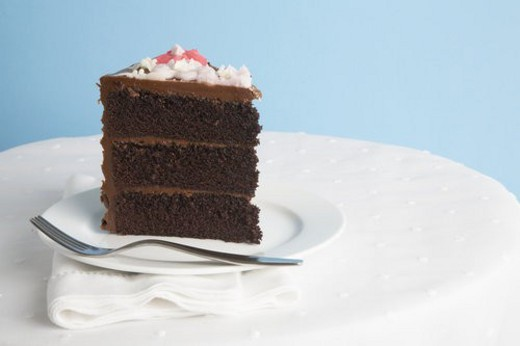 Stock Photo: 4029R-280212 Piece of chocolate cake
