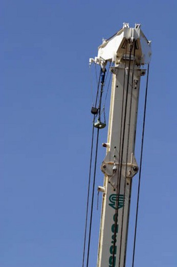 Stock Photo: 4029R-281166 Detail of boom.