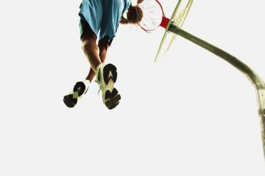 Stock Photo: 4029R-284040 Man playing basketball