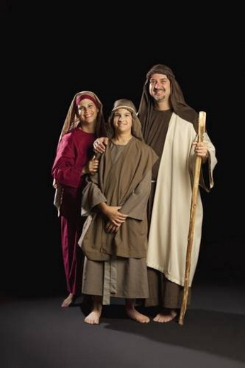 mary, joseph and young jesus : Stock Photo
