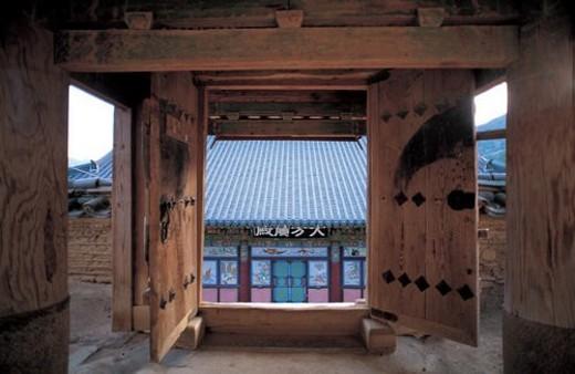 world ancient architecture, tradition, house, gate, Korean-stylehouse, asia architecture, korea : Stock Photo