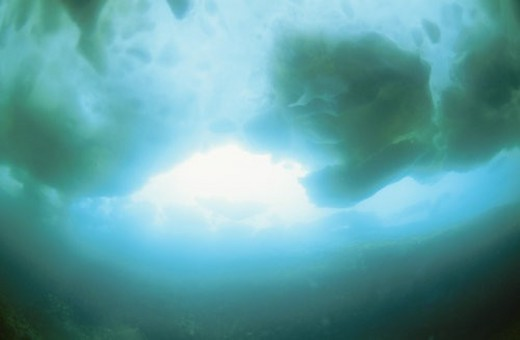 Stock Photo: 4029R-288755 Underwater Drift Ice
