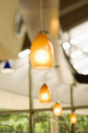 Row of Hanging Lights : Stock Photo