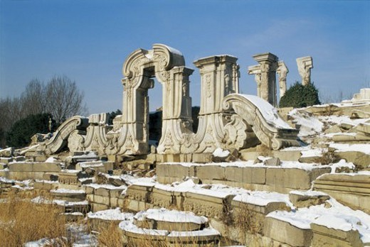 Stock Photo: 4029R-29242 Snow scene of Winter Palace,Beijing
