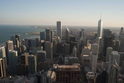 Aerial view of Chicago Cityscape : Stock Photo