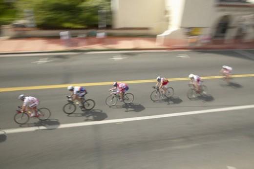 Amateur Men Bicyclists : Stock Photo