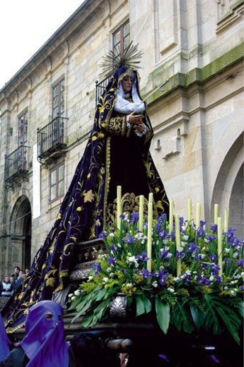 Spain, Galicia, Santiago, Compostela, Santiago compostela, Celebration, Traditional : Stock Photo