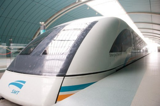 Close up of maglev, Shanghai : Stock Photo
