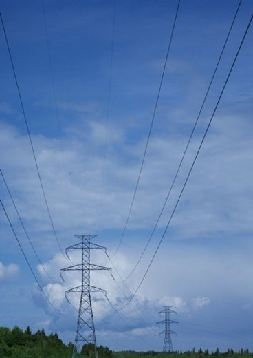 Stock Photo: 4029R-304085 Power lines