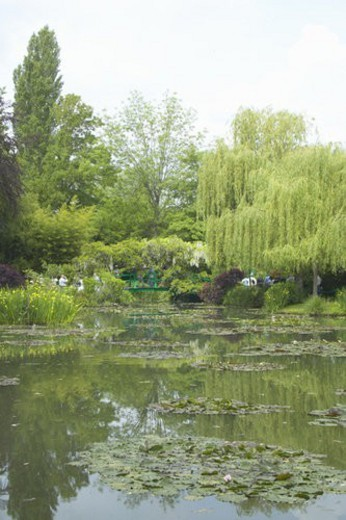 The Gardens at Giverny with Monet s Bridge : Stock Photo