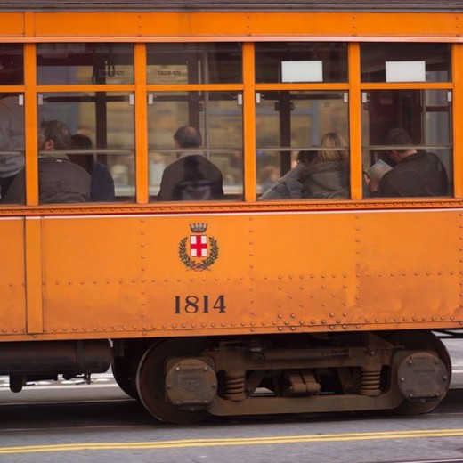 Stock Photo: 4029R-305002 Old Trolley Car in San Francisco
