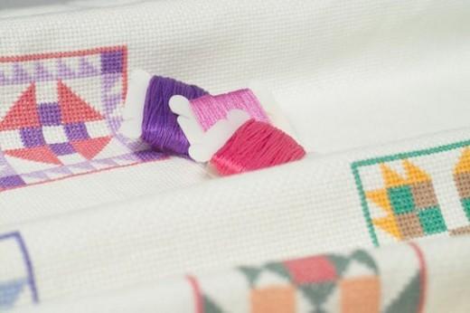 bobbin, sewing intrument, house item, thread : Stock Photo